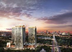 総戸数1256戸 大規模タワープロジェクトインドネシアでの分譲マンション「BRANZ BSD 藍」 上棟