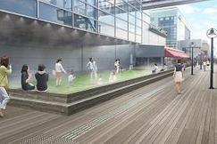 人工芝×ドライミストでお台場「デックス東京ビーチ」に新たな憩いの場を創出 「シーサイド広場」 2018年9月22日(土)開設 東京都の「東京2020大会に向けた暑さ対策推進事業」に認定