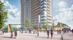 ~大規模再開発が進む白金高輪エリアの新たな街づくり~  「白金一丁目西部中地区第一種市街地再開発事業」に参画  約3,300㎡の広場を備える、住宅・商業・工場等の複合再開発