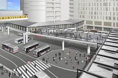 2020年7月、渋谷駅西口の新たな歩行者デッキが供用を開始し、利便性の高い仮設歩行者ネットワークを構築します
