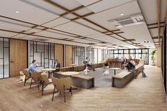 会員制シェアオフィス『ビジネスエアポート』 東京駅周辺のビジネスエリア「日比谷」「京橋」に開業 多様なオフィス提案として、当社初のペット同伴フロア・DIYスペースを併設